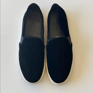 Black Velvet VINCE slide on loafers Ladies US9
